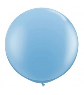 6 Giant Baby Blue Balloons