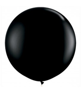 6 Giant Black Balloons