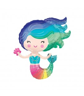 Colorful Mermaid Mylar Balloon