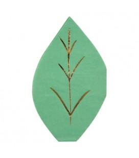 Leaf Napkins with gilding