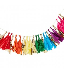 Over the Rainbow Tassel Garland