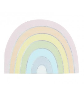 Serviettes Arc-en-Ciel Pastel Party