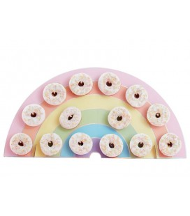 Rainbow Donut Wall Holder - Pastel Party