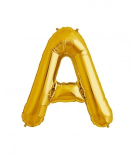 Gold Letter A Mylar Balloon