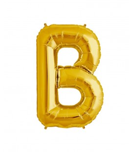 Gold B Mylar Balloon