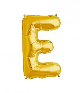 Gold Letter E Mylar Balloon