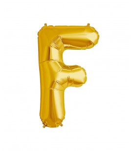 Gold Letter F Mylar Balloon
