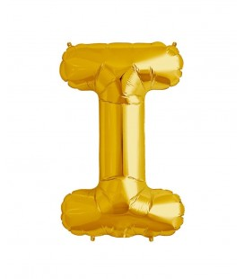 Gold Letter I Mylar Balloon