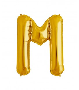 Gold Letter M Mylar Balloon