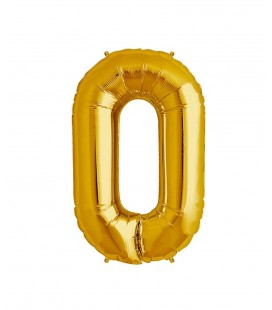 Gold Letter O Mylar Balloon