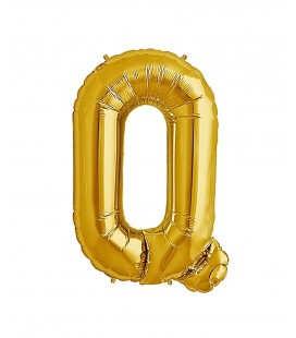 Gold Letter Q Mylar Balloon