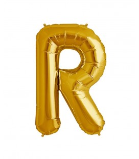 Gold Letter R Mylar Balloon