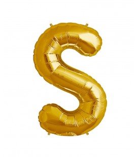 Gold Letter S Mylar Balloon