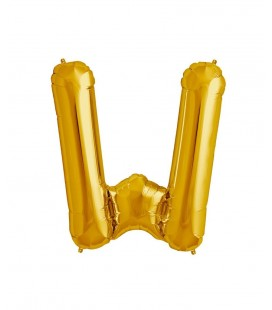 Gold Letter W Mylar Balloon