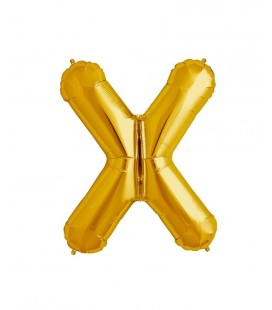 Gold Letter X Mylar Balloon
