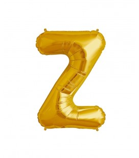 Gold Letter Z Mylar Balloon