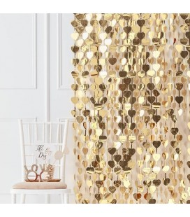 Gold Heart Curtain