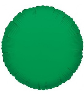 Green round Mylar Balloon