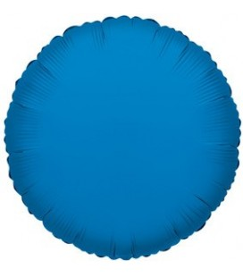 Ballon Mylar Rond Bleu Royal