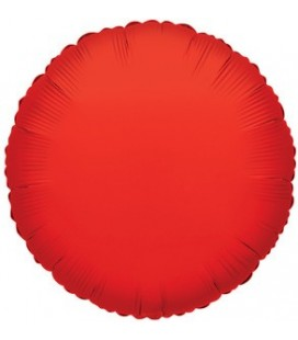 Red Round Mylar Balloon