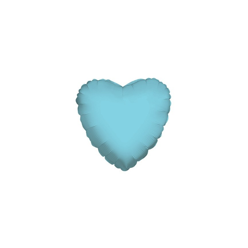 Baby Blue Heart Mylar Balloon