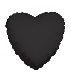 Black Heart Mylar Balloon