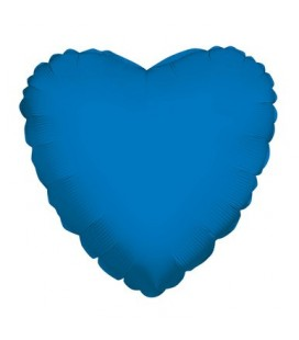 Ballon Mylar Coeur Bleu Royal
