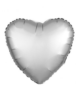 Silver Heart Mylar Balloon
