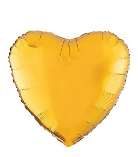 Gold Heart Mylar Balloon