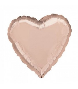 Rose Gold Heart Mylar Balloon