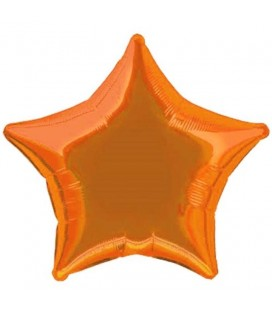 Orange Star Mylar Balloon
