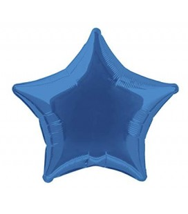 Royal Blue Star Mylar Balloon
