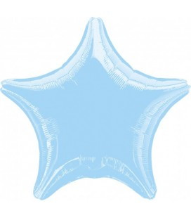 Baby Blue Star Mylar Balloon