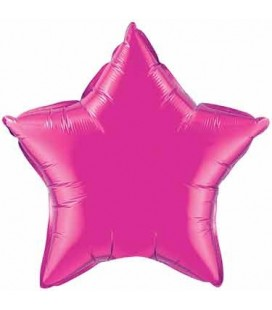 Magenta Star Mylar Balloon