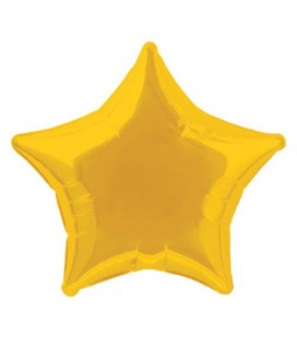 Gold Star Mylar Balloon