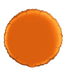 Orange Round Mylar Balloon