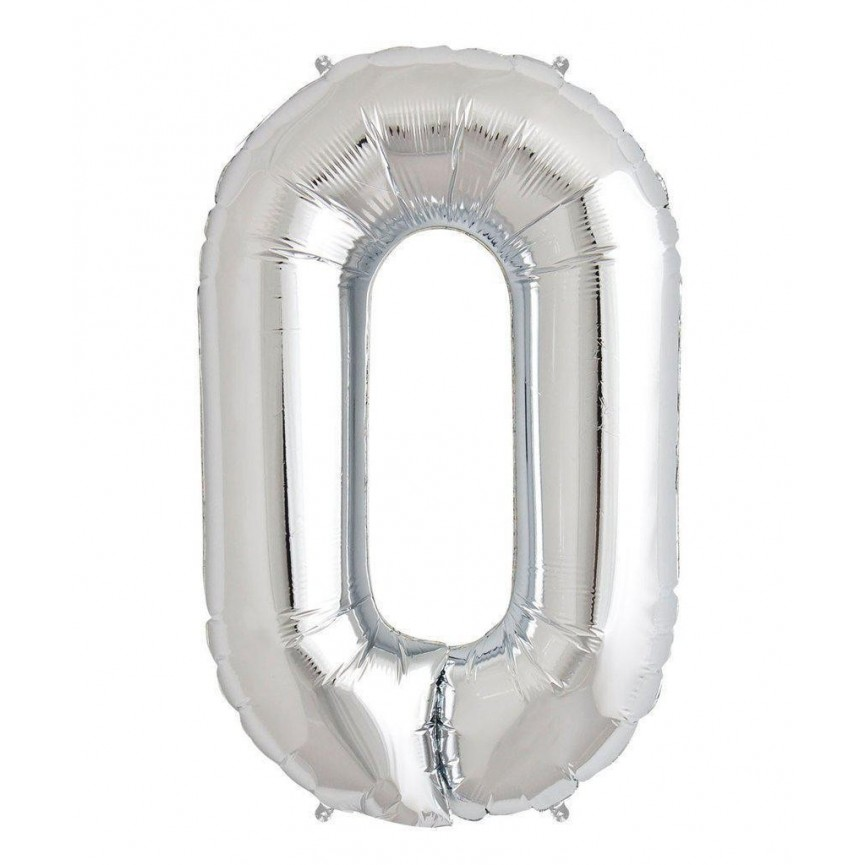 Mylar Ballon Number 0