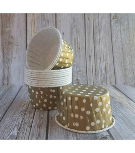 25 Gold Polka Dots Candy Cups