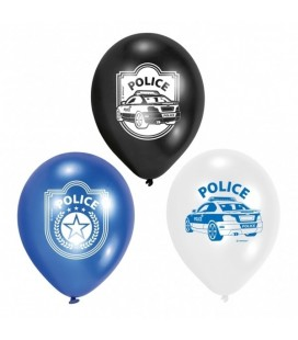 6 Ballons Police Party