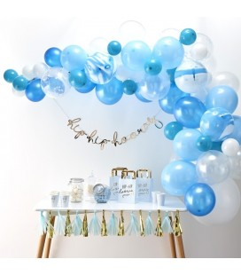 Blue Balloon Arch Kit