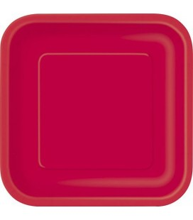 14 Red Dinner Plates