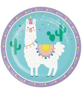 Llama Party Dinner Plates