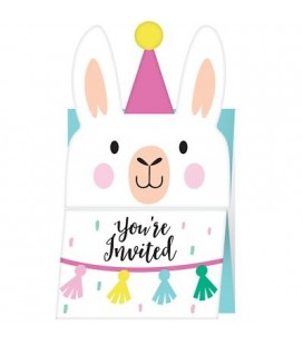 Llama Party Invitations