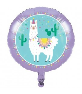 Ballon Mylar Lama Party