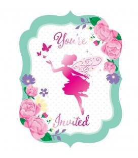 Floral Fairy Invitations