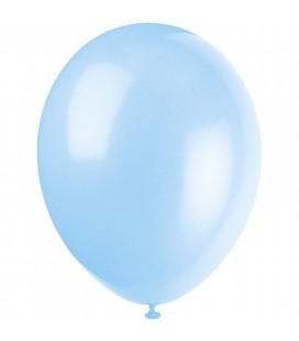 10 Light Blue Balloons