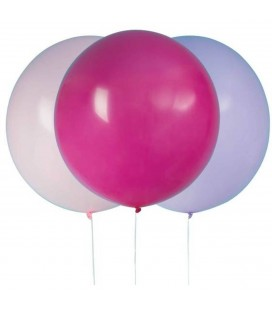 3 Giant Assorted Pink Balloons