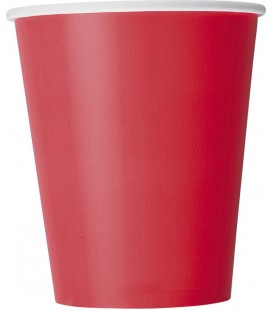 8 Rote Becher