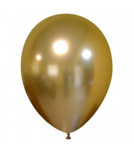 Latexluftballon Chrom-Gold