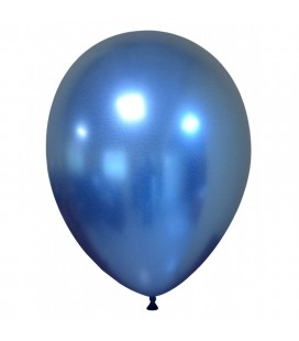 Latexluftballon Chrom-Blau